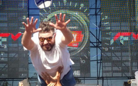 Stage diver takes a brave leap at Huawei KDay