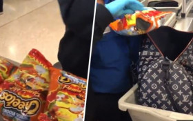 [WATCH] Woman's duffel bag flagged by airport security filled with Cheetos