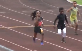 [WATCH] 7-year-old Rudolph 'Blaze' Ingram smashes race