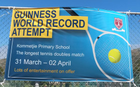 Guinness World Record Tennis Doubles Tennis