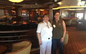 Meet Captain Inger Klein, the female captain behind Queen Elizabeth ship's wheel
