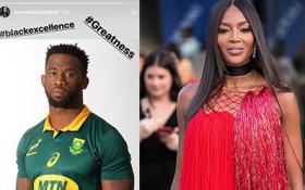 English supermodel Naomi Campbell supports Siya Kolisi-led Springboks