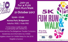 Cansa Relay For Life Athlone: 5km Run Walk Fundraiser