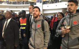 Rapturous fans welcome Barcelona stars to SA