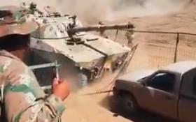 [WATCH] SANDF tank crashing through crowd goes viral, is this another Mabena?