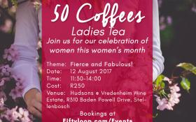 50 Coffees Ladies Tea Fierce and Fabulous
