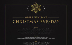 Christmas Eve/Day in Mint Restaurant - Buffet Dinner