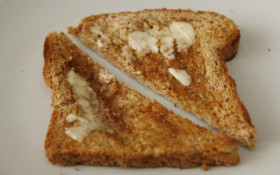 PROVEN: Toast always lands buttered-side down