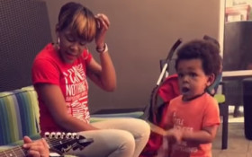 [WATCH] Toddler on YouTube born to be a drummer!