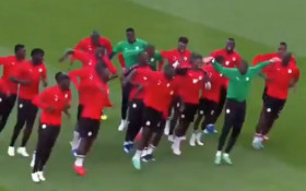 [WATCH] Senegalese team's dance moves during training go viral