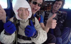 [WATCH] 102-year-old woman could just be the oldest skydiver in the world