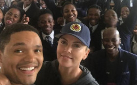 WATCH: Cape schoolkids 'starstruck' after Trevor Noah,  Charlize Theron drop by
