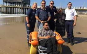 [WATCH] Paramedics' kindness gets wheelchair-bound man to beach after long break