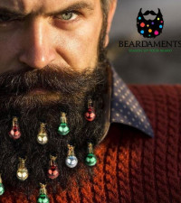 The latest beard trend this festive season: Beard Ornaments