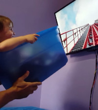 Dad's unique 'virtual reality' DIY rollercoaster gets family to Disney World