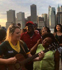 South African Expats in New York Sing SA's National Anthem