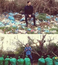 The #trashtag challenge... cleaning up the world's trash