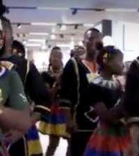 [WATCH] Ndlovu Youth Choir showing support to Springboks at Woolies goes viral