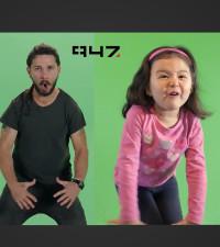Shia LaBeouf vs. adorable 3 year old