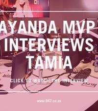 [WATCH] Ayanda MVP interviews R&B legend, Tamia