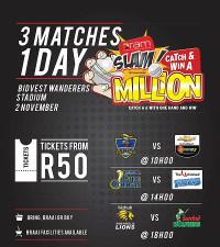 Win: Ram Slam T20 Challenge Triple Header  Tickets