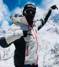 South African Saray Khumalo is on top of the world, summits Mount Everest