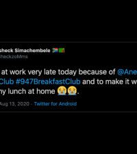 [WATCH] Anele sends Nando's to Misheck after he left his lunch at home