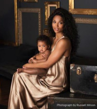 Ciara shares first pictures of daughter Sienna