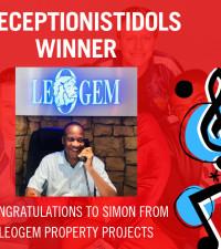 Congratulations to Simon from Leogem, winner of #ReceptionistIdols 2019