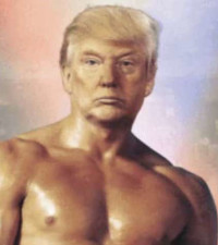 Trump tweets a photoshopped photo of himself with Rocky Balboa's body