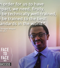 Dr. Mayosi on face to face with success