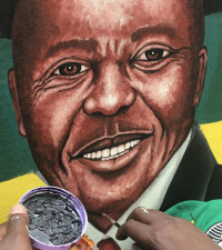 Artist Rasta sets Twitter alight with his painting of Cyril Ramaphosa