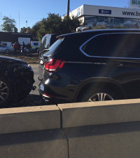 Domino effect: Blue light brigade cars crash into each other on M1