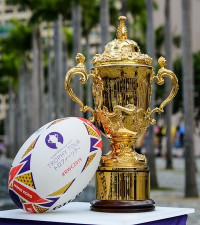 Get up close and personal with Rugby World Cup's iconic Webb Ellis trophy