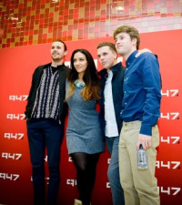 Stacey hangs out with Beatenberg and Matthew Mole at MTN HQ