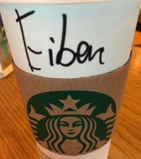 Starbucks – try as they might – just can't get this Afrikaans guy's name right