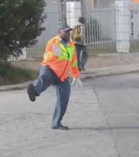 WATCH: OUR CREATIVE TRAFFIC COPS DIRECTING TRAFFIC MJ STYLE!