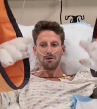 [WATCH] Formula 1 Romain Grosjean gives update after surviving high-speed crash