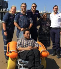 [WATCH] Paramedics' kindness gets wheelchair-bound man to beach after long break