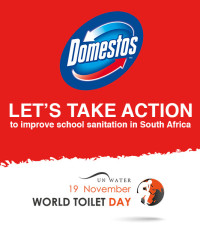 """Anele :""""It's time to TAKE ACTION to improve school sanitation in South Africa!"""""""