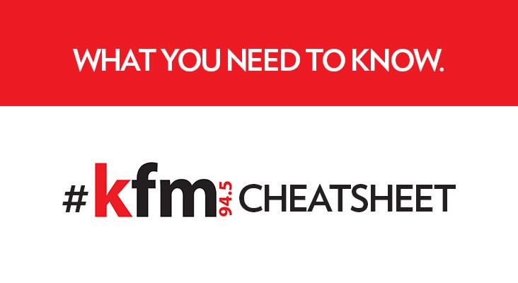 #KfmCheatSheet - Wednesday 13 Sept 2017
