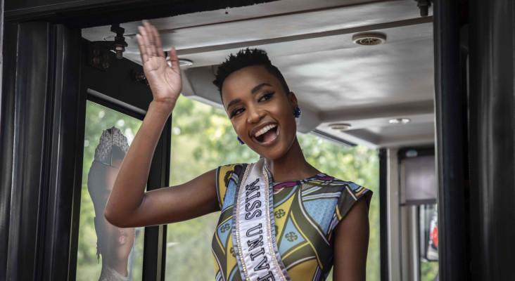 Miss Universe Zozibini Tunzi in CT for homecoming tour