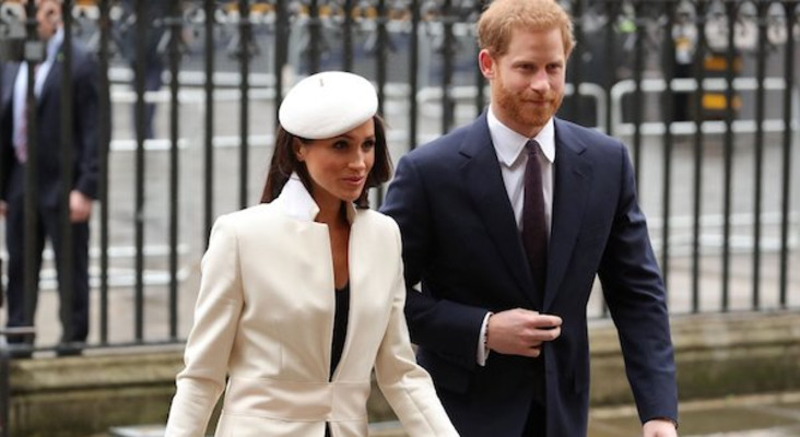 Meghan Markle makes her first appearance with Queen Elizabeth