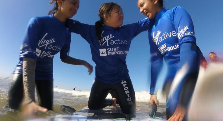 Help SA surf champ Roxy Davis change lives through surfing
