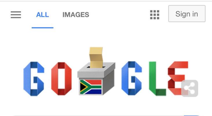 Google doodle celebrates Mzansi's 6th democratic election