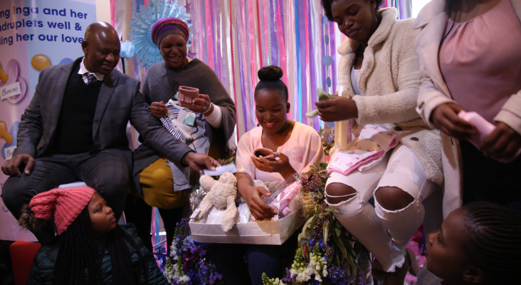 [WATCH] Mom of quadruplets surprised with baby shower