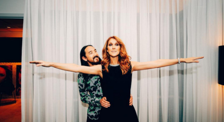 Watch what happens when Steve Aoki brings out Celine Dion at a gig in Vegas