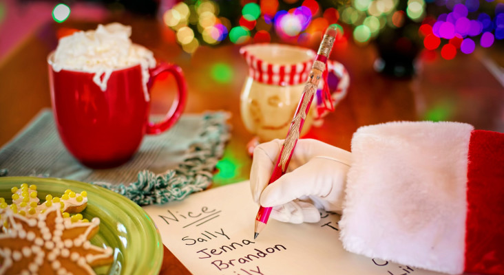How cute?! A letter to Santa on Kfm Mornings