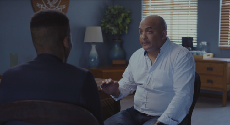 [WATCH] Kieno appears on 'Arendsvlei' and chats to his TV co-star Cantona James