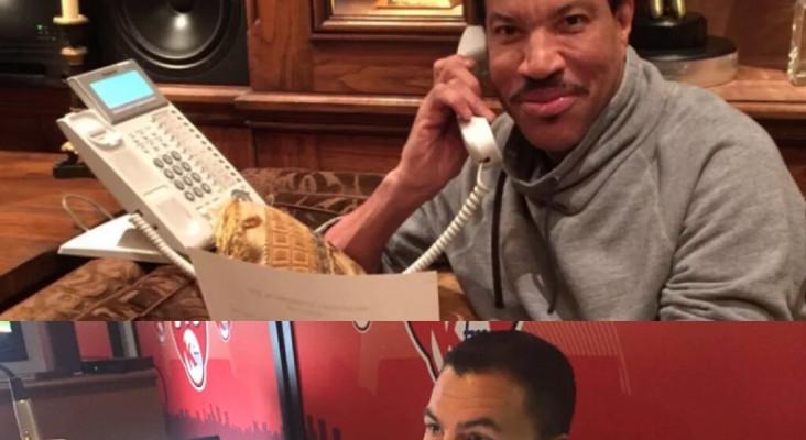 Lionel Richie live on KFM Breakfast